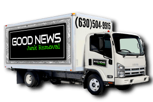 Gn junk truck with new logo 1 300x200 1 Good News Junk Removal Dallas Ga Foreclosure Clean-outs  Real Estate & Property Management